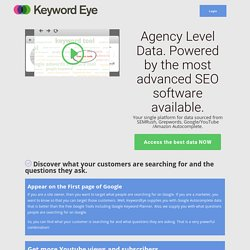 Keyword Eye : Visual Keyword Suggestion Tool PPC, SEO, Niche Finder