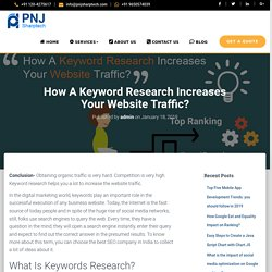 How A Keyword Research Increases Your Website Traffic?