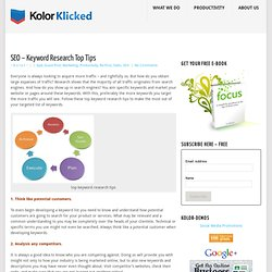 SEO – Keyword Research Top Tips