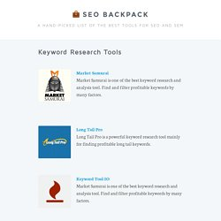 Keyword Research - SEO Backpack