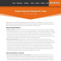 5 Best Keyword Research Tools - The Digital Peeps
