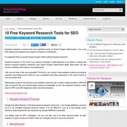 10 Free Keyword Research Tools for SEO - Seo Online Shop