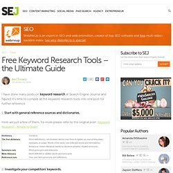 Free Keyword Research Tools – the Ultimate Guide
