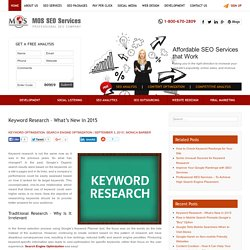 Keyword Research - What's New in 2015