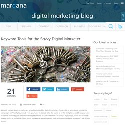 Keyword Tools for the Savvy Digital Marketer