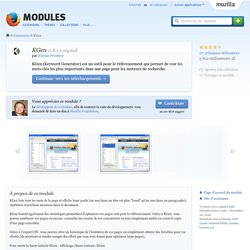 KGen :: Modules pour Firefox