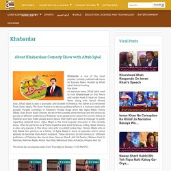 Khabardar with Aftab Iqbal on Express News - Pakistani talk shows