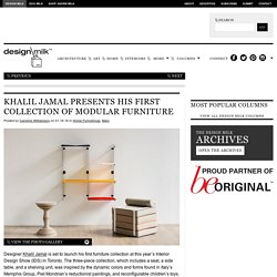 Khalil Jamal's First Collection of Furniture