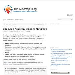 The Khan Academy Finance Mindmap