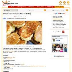 Khanom Ba Bin - Coconut Pancake, Thai Street Food Recipe » Temple of Thai
