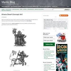 Khaos Dwarf Concept Art!