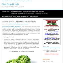 Khasiat Brokoli Untuk Mata Ablasio Retina - Artikel Kesehatan