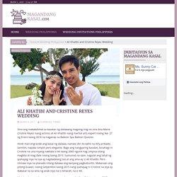 Ali Khatibi and Cristine Reyes Wedding
