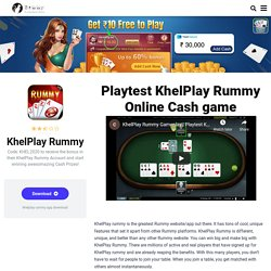 Khelplay rummy cash game app download