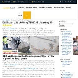 Khoan cắt bê tông TPHCM giá rẻ uy tín - Hotline: 090.348.2344sắt thép xây dụng