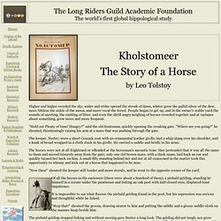 Kholstomer - The Story of a Horse, by Leo Tolstoy