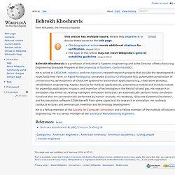 + Behrokh Khoshnevis
