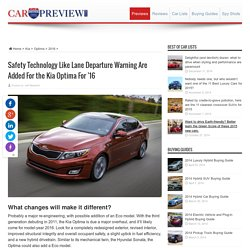 Kia Updates the Optima for 2016