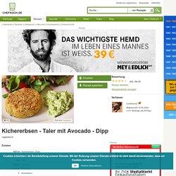 Kichererbsen - Taler mit Avocado - Dipp