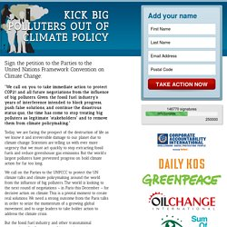 Kick Big Polluters out of Climate Policy