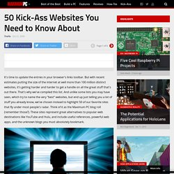 50 Kick-Ass Websites You Need to Know About - StumbleUpon