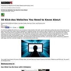 50 Kick-Ass Websites