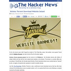 KickAss Torrent Download Website Seized - Hacker News
