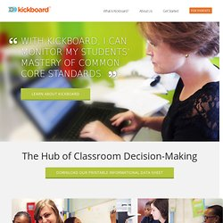 Kickboard: a data driven instructional application for teachers by teachers.
