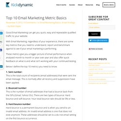 Top 10 Email Marketing Metric Basics
