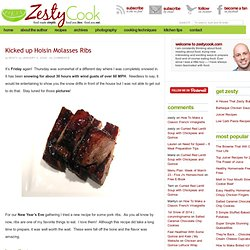 Kicked up Hoisin Molasses Ribs | ZestyCook