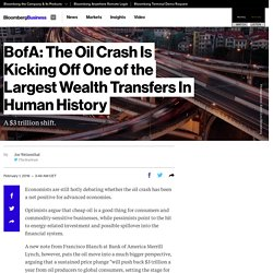 BofA: The Oil Crash Is Kicking Off One of the Largest Wealth Transfers In Human History