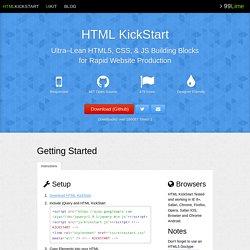 HTML KickStart HTML Elements & Documentation