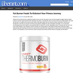 Fat Burner Foods To Kickstart Your Fitness Journey