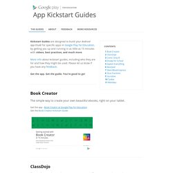 App Kickstart Guides from Google Play for Education