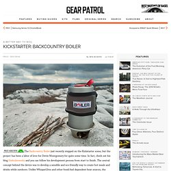 Kickstarter: Backcountry Boiler