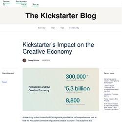 Kickstarter's Impact on the Creative Economy