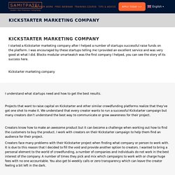 Best Kickstarter Marketing Agency For Crowdfunding Projects