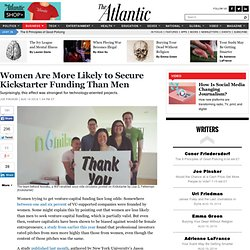 Women Are More Likely to Secure Kickstarter Funding Than Men