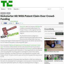 Kickstarter Hit With Patent Claim Over Crowd-Funding