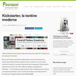 Kickstarter, la tontine moderne