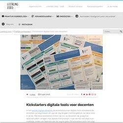 Kickstarters digitale tools voor docenten - Leerling 2020