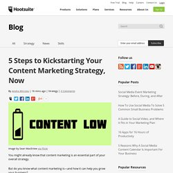 5 Steps to Kickstarting Your Content Marketing Strategy, Now