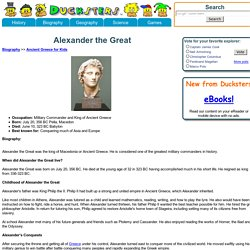 Kid's Biography: Alexander the Great