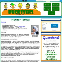 Kid's Biography: Mother Teresa