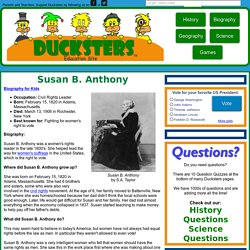 Kid's Biography: Susan B. Anthony