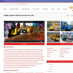 kiddie games/ Kids Excavator for sale