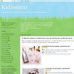 Kidissimo: 21 idées de cadeaux à confectionner avec des enfants pour la fête des mères.