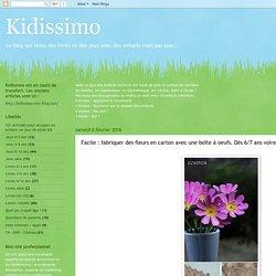 Facile : fabriquer des fleurs en carton avec une boîte à oeufs. Dès 6/7 ans voire avant.