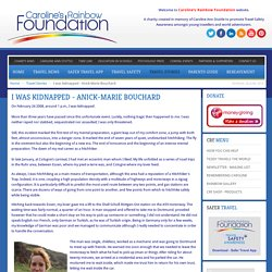 I was kidnapped - Anick-Marie Bouchard - CRF Travel Safety Awareness