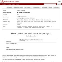 Those Chains That Bind You: Kidnapping AU - Chapter 4 - abutterflyobsession - Strange Magic (2015)